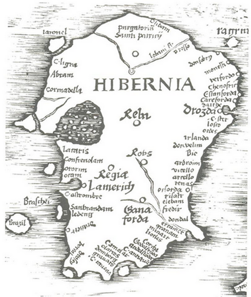 Map Of Ireland 500 Ad.Story Of Arklow